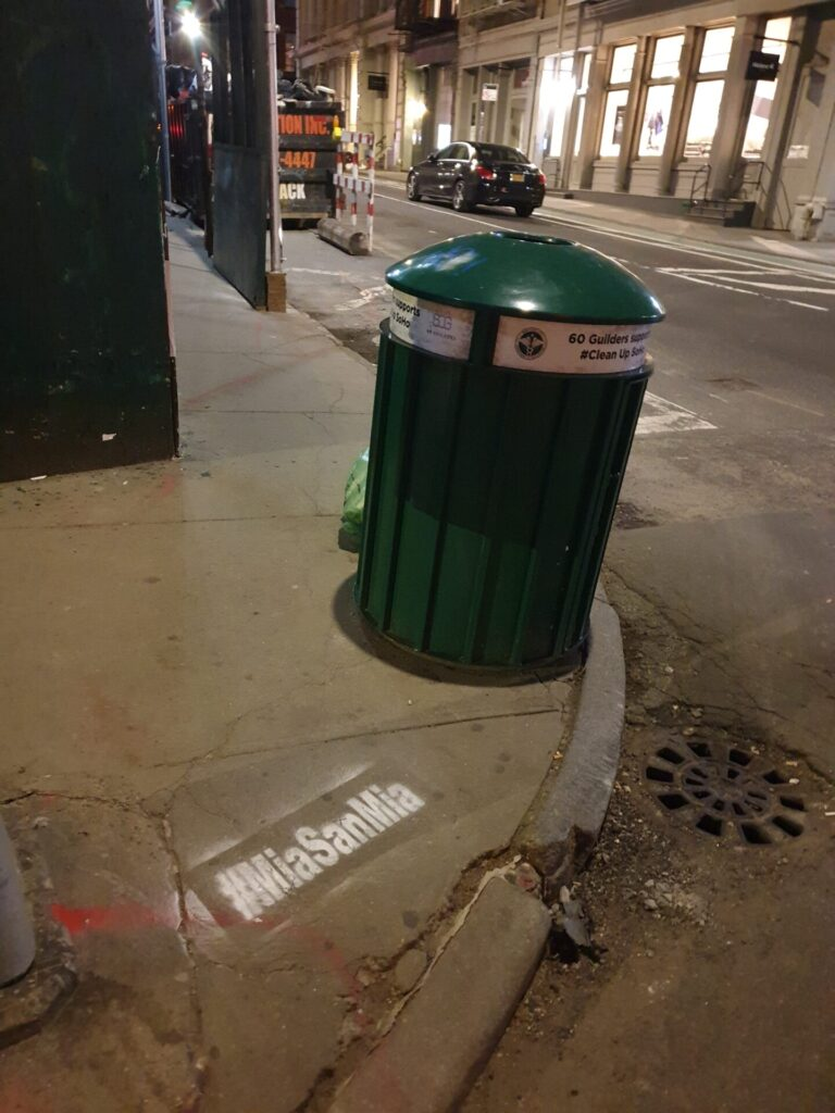 Chalk Stencils Advertising in New York